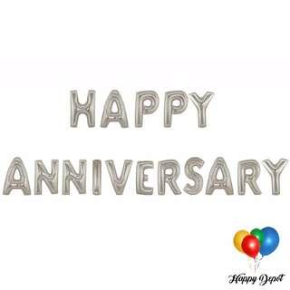 Happy Anniversary Letter Balloons