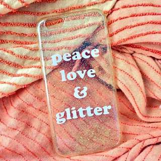 Peace, Love & Glitter case from Typo (iPhone 6/6s)
