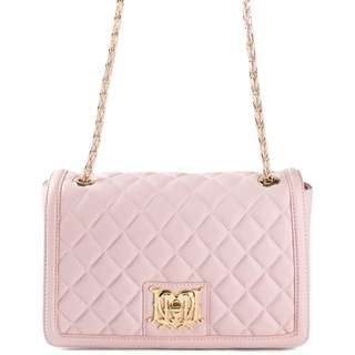 MOSCHINO QUILTED LEATHER BAG IN PINK