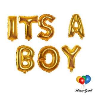 It's A Boy Foil Balloons