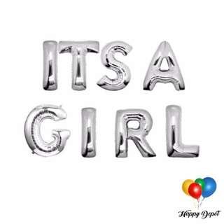 It's A Girl Foil Balloons