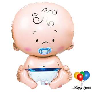 Baby Girl or Baby Boy Foil Balloons