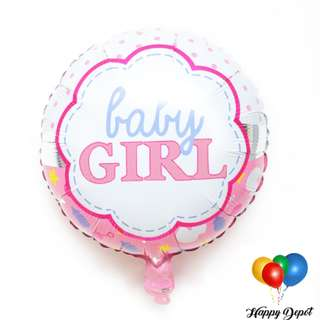 Baby Girl Round Foil Balloons
