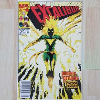 Marvel Comics  Excalibur 61 Near Mint Condition Phoenix vs Galactus
