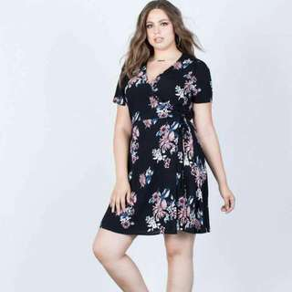 RS- Plus Size OverLap Dress