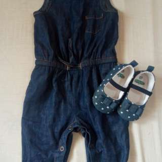 #OOTD Denim/maong jumpsuit with shoes