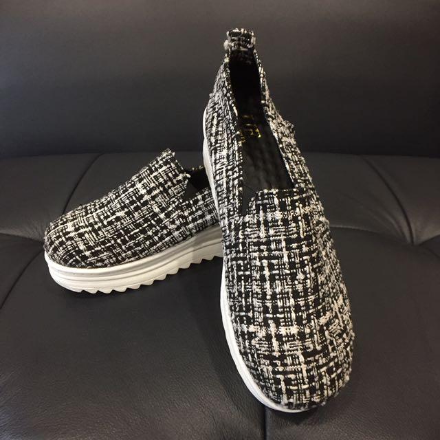 休閒鞋23.5(厚底)