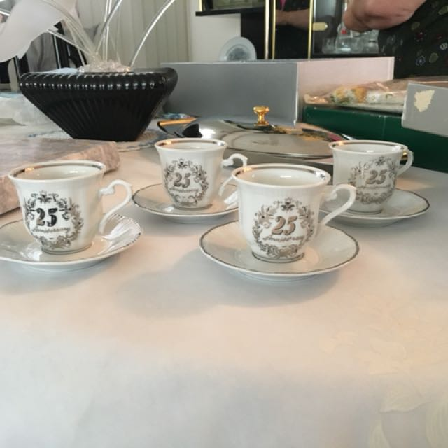 25th Anniversary tea cup set