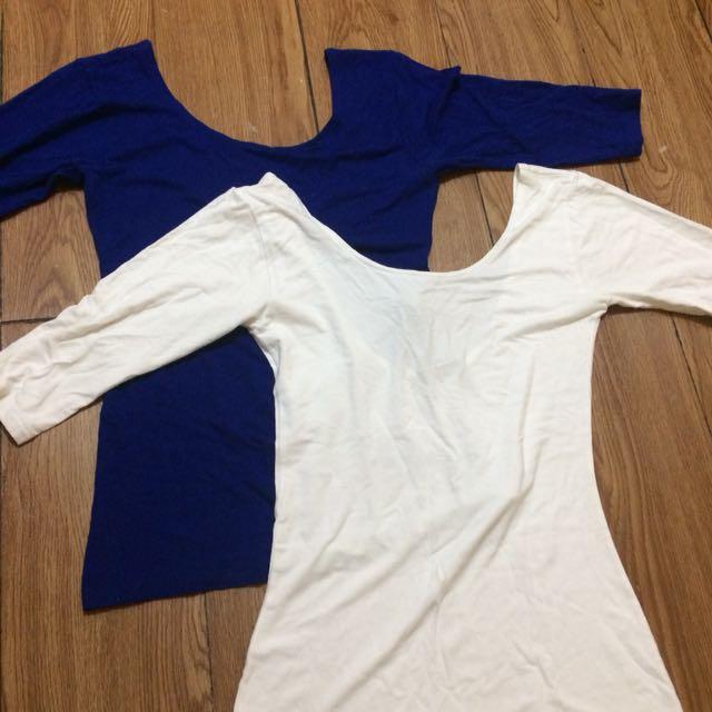 3/4 Backless shirt
