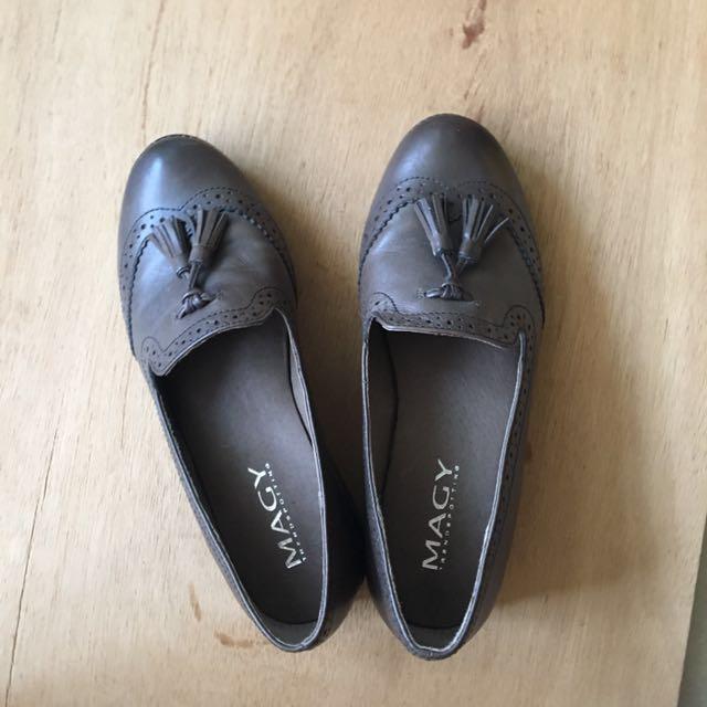 專櫃購入真皮鞋36號