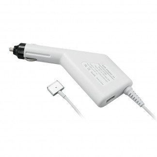 60W Magsafe 2 Car Charger with USB Port for Apple MacBook