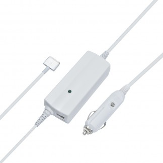 """85W Dual Port Car Charger with Magsafe 2 Cable for Macbook Pro Retina 15"""""""