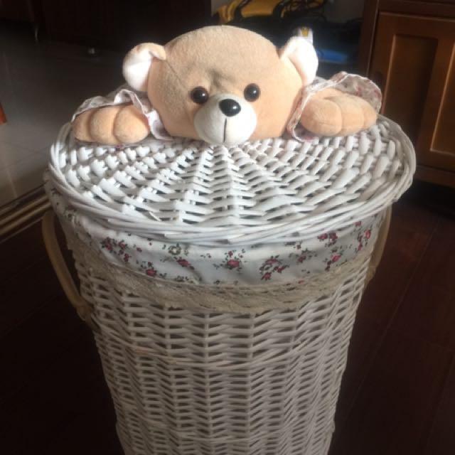 柳編竹籃收納箱