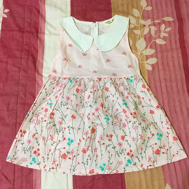 女童碎花領結洋裝👉🏻全新