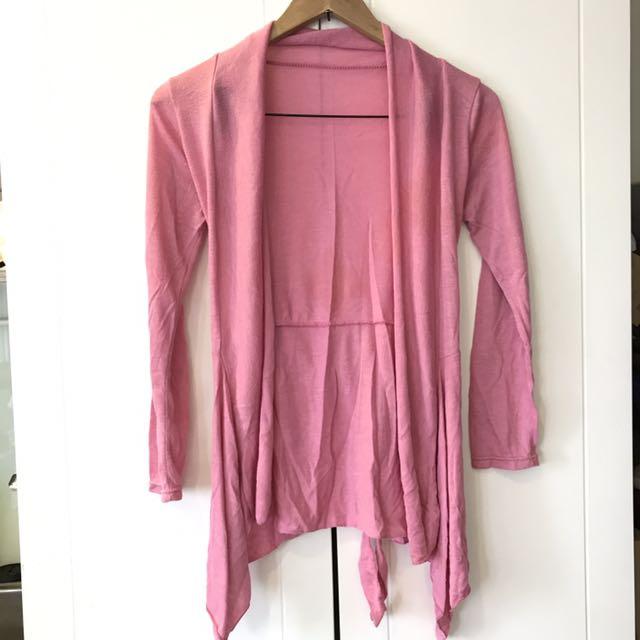 粉紅色初秋罩衫