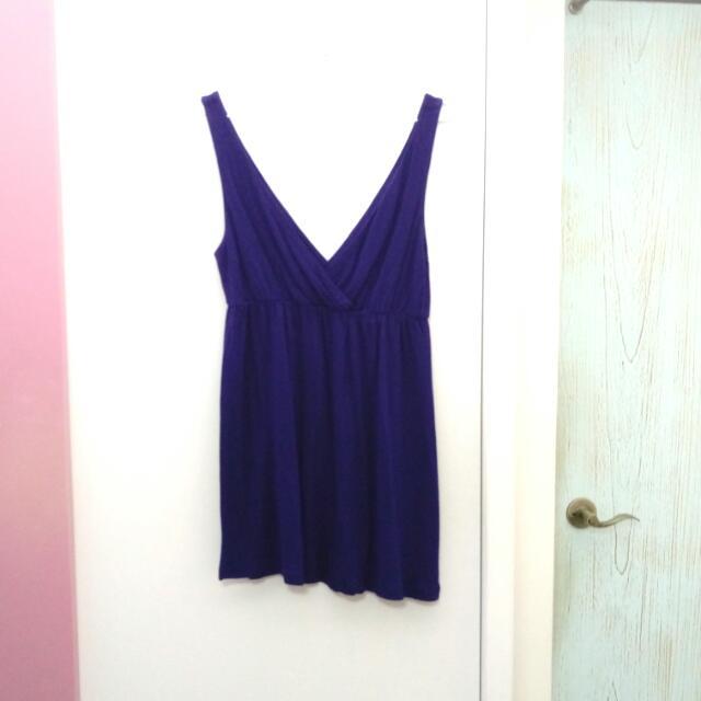寶藍色短洋裝