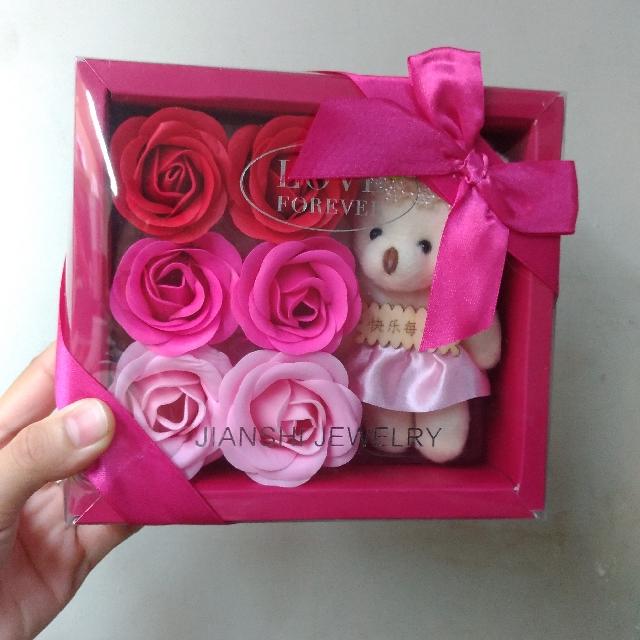 玫瑰花熊熊組合