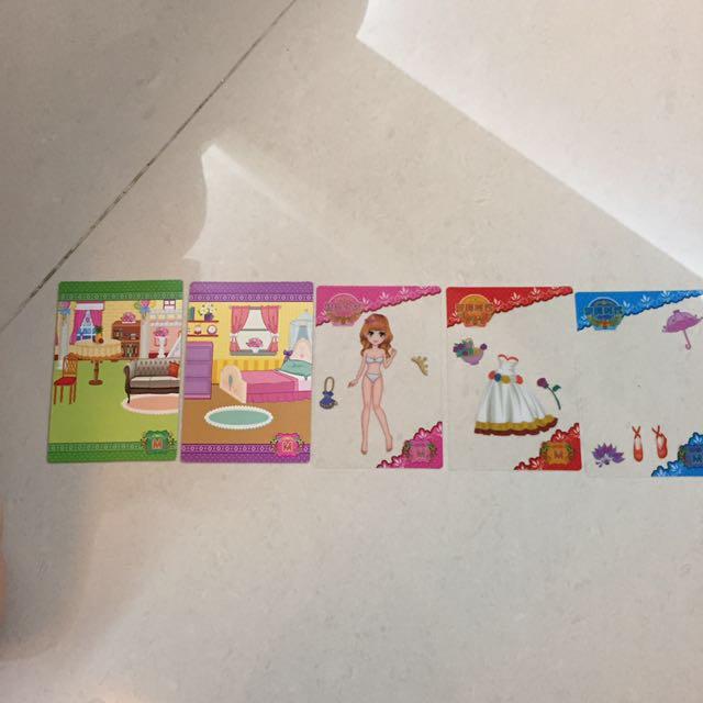 精靈公主拼妝卡片
