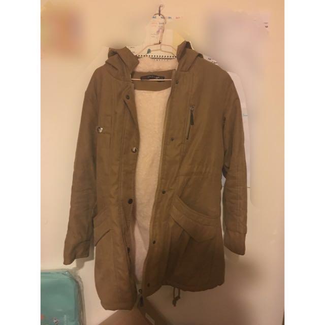 內刷毛長版外套 #三百元外套