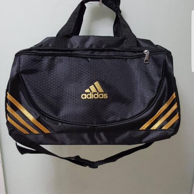 278ad75a711fae Adidas Inspired Duffel Gym Bag Black Gold, Sports, Sports & Games ...