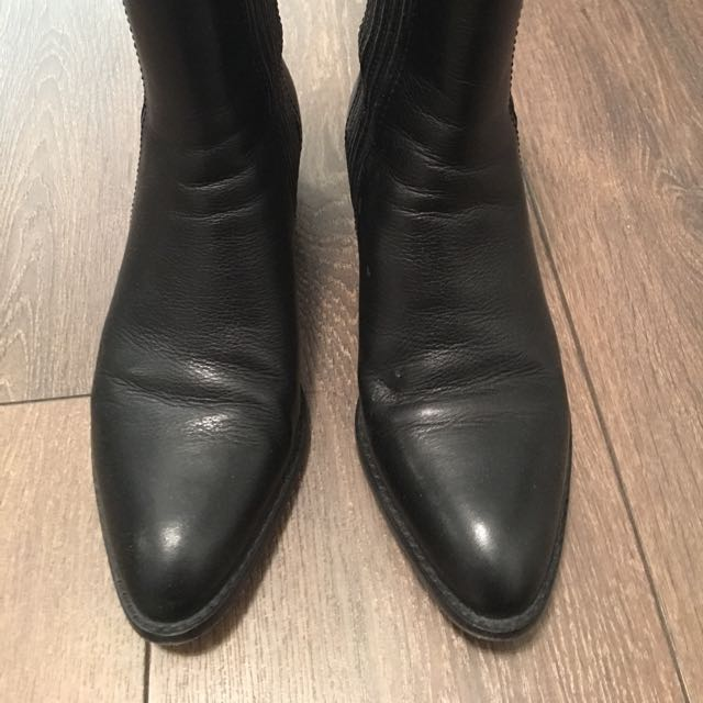 Alexander Wang Anouck Black Leather Boots Size 6