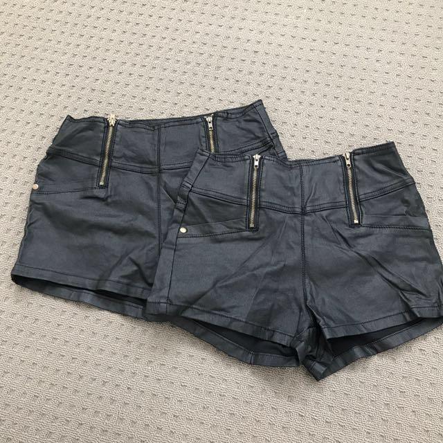 Ally Wet Look Short Shorts Sz8