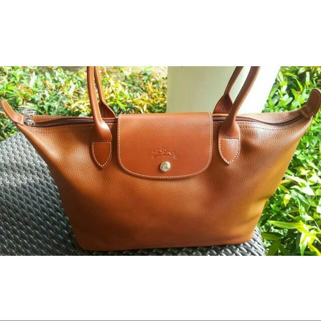 Authentic Longchamp leather toté Bag
