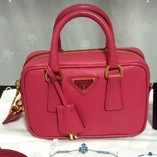 3be8e9c1a9bc ... denmark authentic prada saffiano lux mini crossbody peonia luxury bags  wallets on carousell 91190 072c7