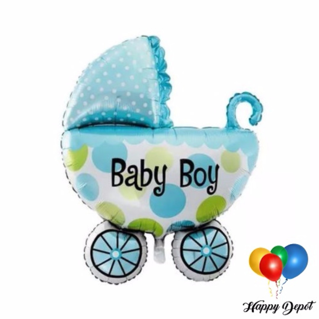 Baby Boy Carriage Foil Balloons