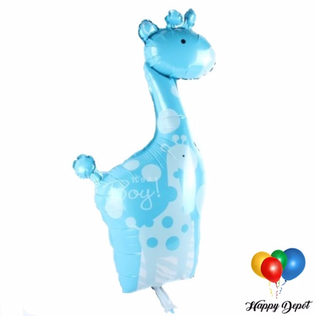 Baby Boy or Girl Giraffe Foil Balloons