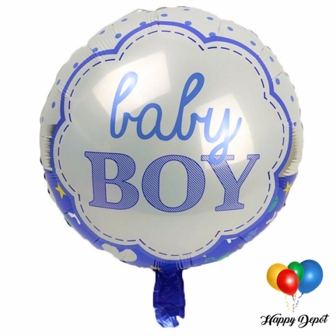 Baby Boy Round Foil Balloons