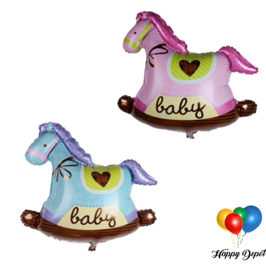 Baby Rocking Horse Foil Balloons