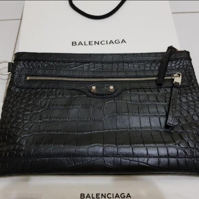 Balenciaga black clutch