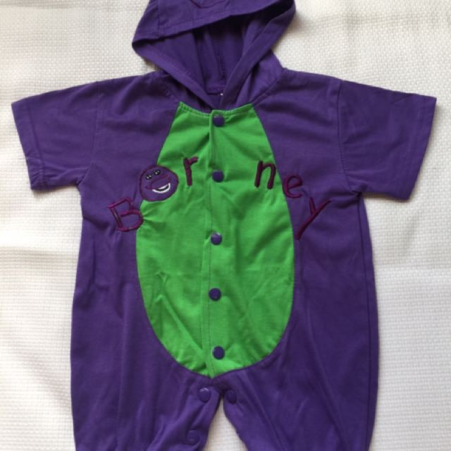 Barney baby romper