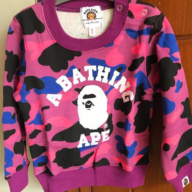 Bathing Ape Kids Sweater Purple