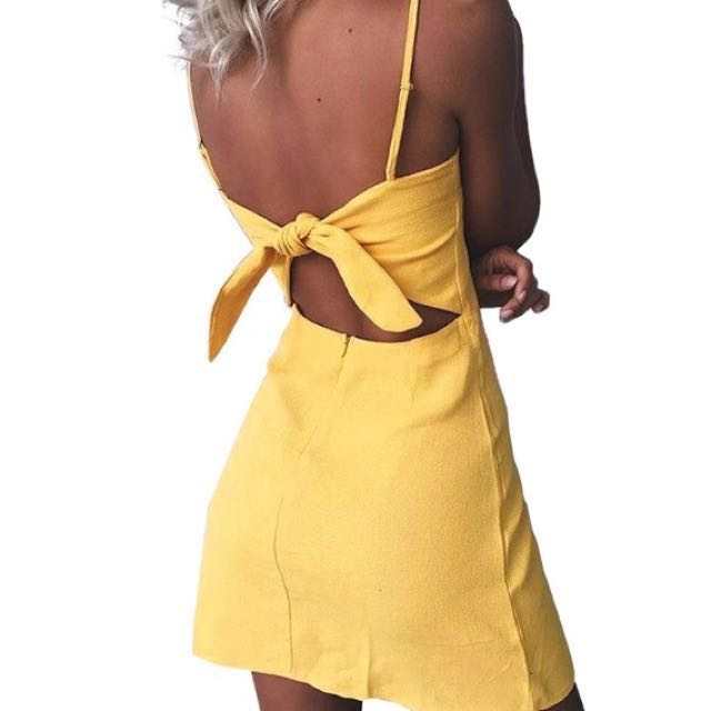 BNWT Australian Design Bow Back Linen Dress (RRP $89.95)🇦🇺