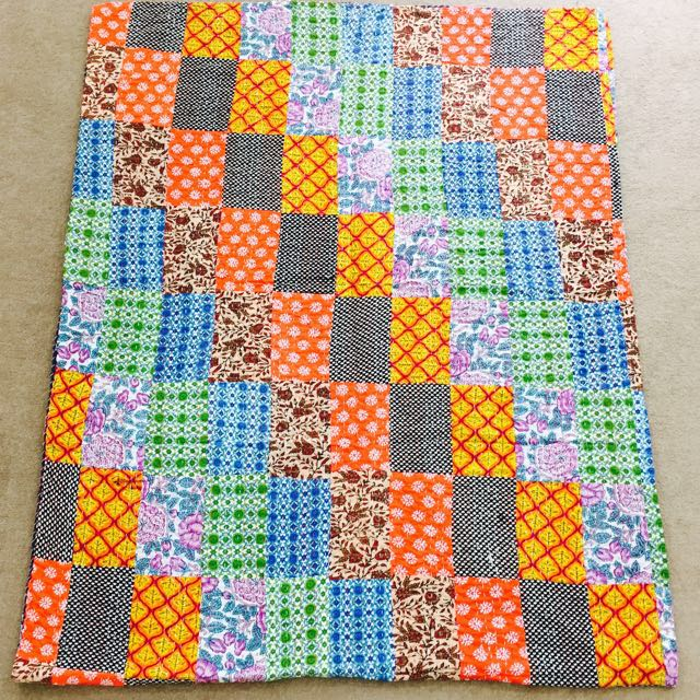 Bohemian Multicoloured Handmade Quilt.