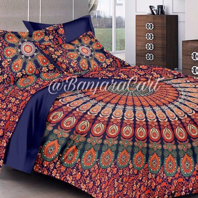 Bohemian print Quilt cover set
