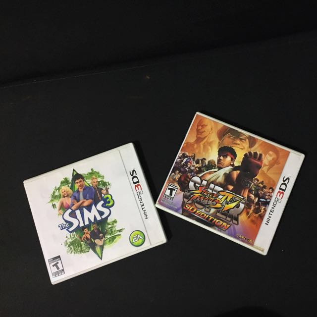 BUNDLE: Super Street Fighter IV and Sims 3 for NINTENDO 3DS