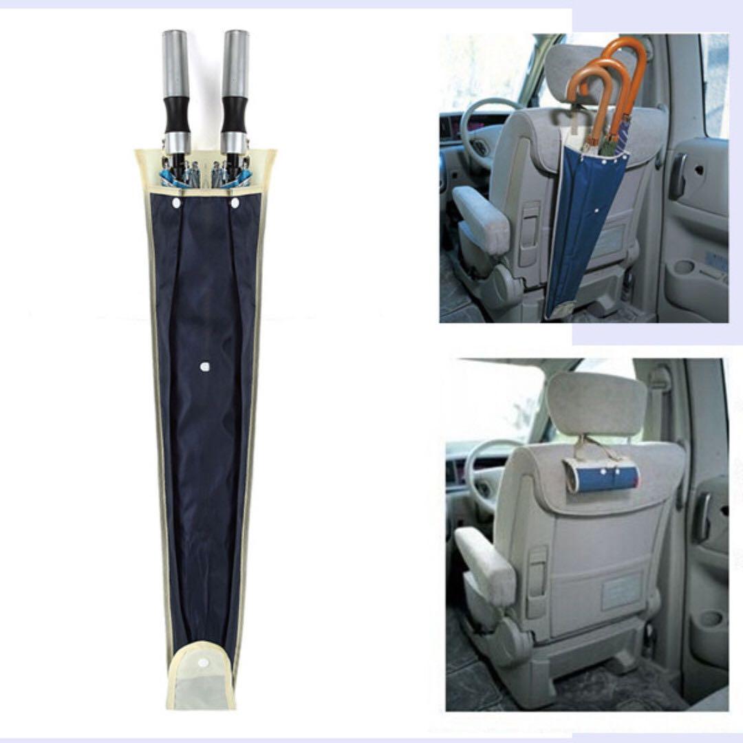 Car Back Seat Umbrella Holder Hanging Waterproof Organizer Bag