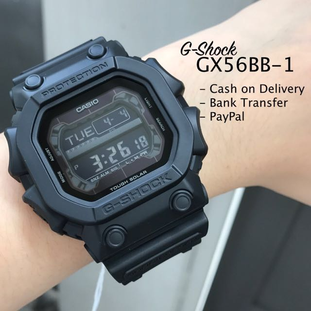 Casio G-Shock GX56BB-1 Black Out Stealth Series Solar Powered Watch For Men