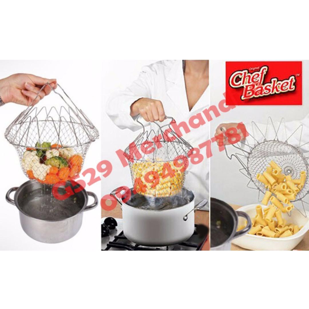 Chef Basket Collapsible Colander 12-in-1 Magic Kitchen, Kitchen ...