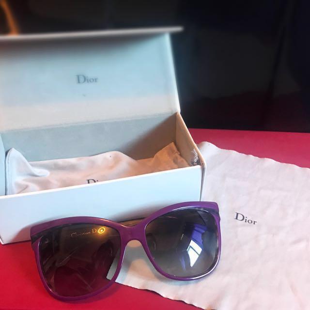 Christian Dior Large Car Eye Sunglasses