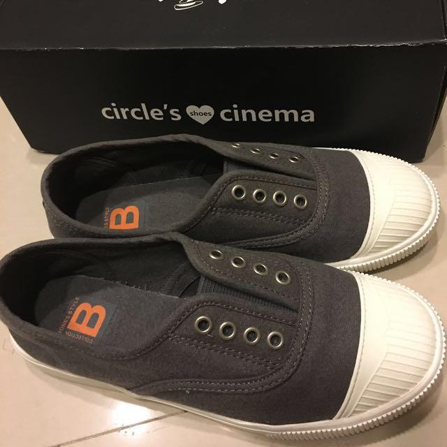 circle's cinema 正韓 無鞋帶法式隨性帆布鞋#五百元好女鞋