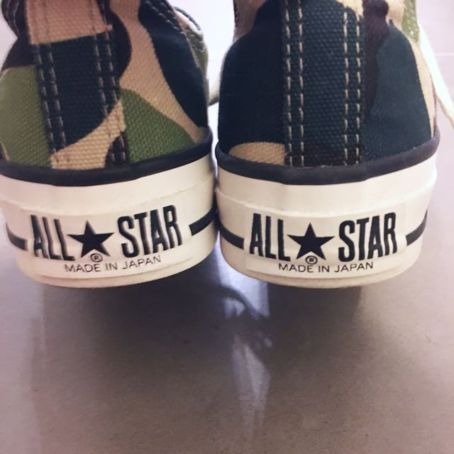 6497ab88637 CONVERSE ALL STAR J 83 CAMO OX (MADE IN JAPAN), Women's Fashion, Women's  Shoes on Carousell