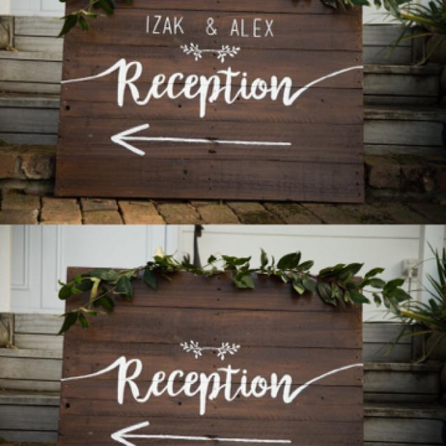 Custom made wooden signs