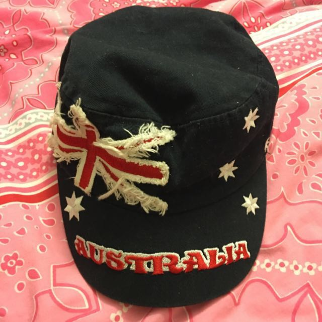 Dark Navy Cap with the Australian Flag Design