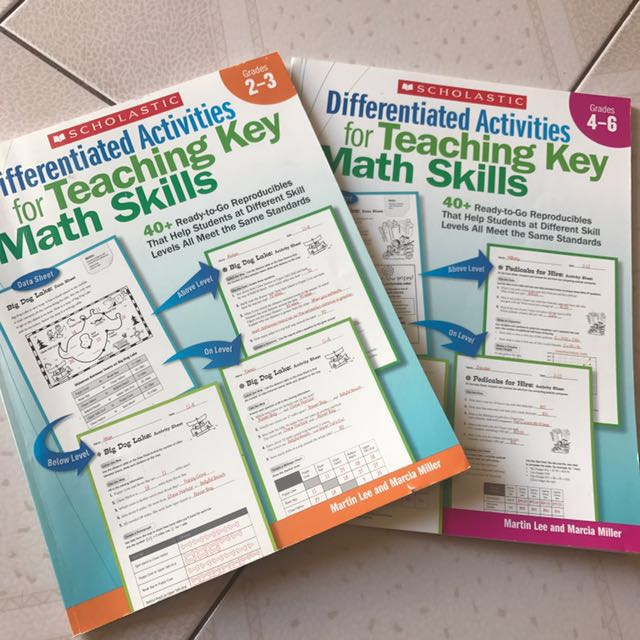 Differentiated maths skills