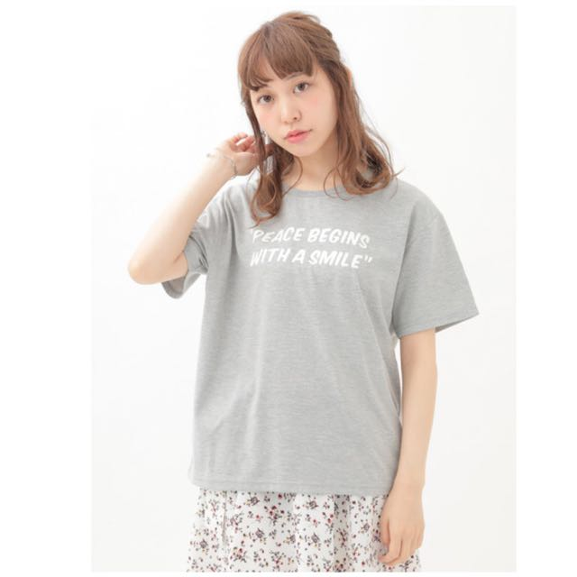 🌸earth music&ecology  字母t-shirt