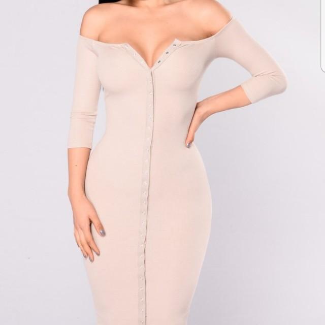 Fashion nova nude dress
